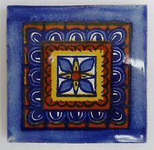 Fairly Traded Handmade Ceramic Mexican Talavera Tile - 'Salomon' (T12860-19)
