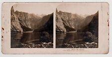 Obersee mit den Teufelshörnern Bayerisches Hochland Stereofoto Foto 1906