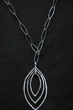 SILPADA - N2111 - Marquise-Shaped Sterling Silver Pendant Link Necklace - RET
