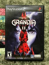 Grandia II Sony Playstation 2 PS2 Tested & Works great! Good Condition! RARE