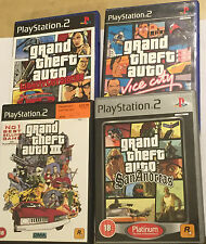 4 ps2 PLAYSTATION 2 GIOCHI GTA III GRAND THEFT AUTO SAN ANDREAS Vice LIBERTY CITY
