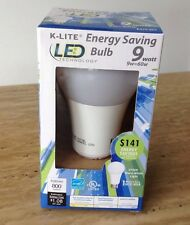 K-Lite 60W Warm White A19 LED Light Bulb 2700 Household Dimmable Mercury Free
