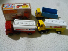 VINTAGE MATCHBOX TRUCK LOT PETROL TANKER FREEWAY GAS ARTICULATED LESNEY DIECAST