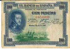 Billete De España 100 P69a 1925 F-Serie C