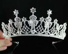 ELEGANT CLEAR AUSTRIAN CRYSTAL RHINESTONE HAIR TIARA CROWN BIRTHDAY BRIDAL T1817