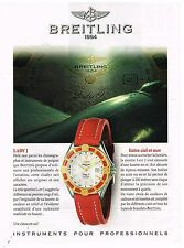 Publicité Advertising 1997 La montre Breitling lady J