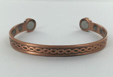 MENS BIO CELTIC MAGNETIC COPPER BANGLE/BRACELET ARTHRITIS PAIN RELIEF STRENGTH