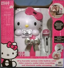 Hello Kitty Karaoke System KT2009 Color Video Camera Recording Bluetooth NEW z