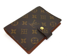 100% Authentic Louis Vuitton Monogram Small Ring Agenda PM Day Planner Cover LV
