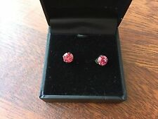 Swarovski Embellished Stud Fashion Jewelry Earrings, Pink