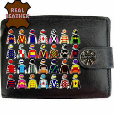 Jockey Silks Colours Horse Racing Klassek Leather Wallet Betting Bookies Gamble