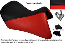BLACK & BRIGHT RED CUSTOM FITS BMW R 1200 RT FRONT SEAT COVER FOR A LOW SEAT
