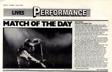 13/6/87pg32 Live Review & Picture, New Order - Finsbury Park Super Tent