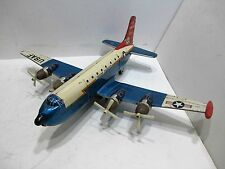 US AIR FORCE C-124 GLOBEMASTER AIRPLANE FRICTION GOOD COND ALL TIN MADE IN JAPAN