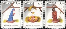 Monaco 1994 Christmas/Greetings/Crib Figures/Nativity/Nary/Child 3v set (mc1072)