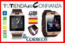 Color ORO BRONCE tactil DZ09 Smartwatch ANDROID Reloj CAMARA FOTOS Bluetooth