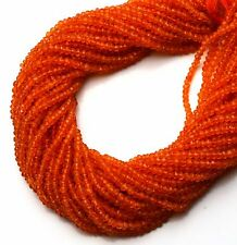 """Natural Gem Super Quality Carnelian 3.5MM Micro Facet Rondelle Beads 13"""" Strand"""