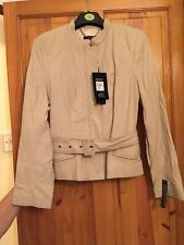 NEW SIZE 12 GENUINE LEATHER DEBENHAMS JASPER CONRAN BEIGE NUDE JACKET COAT