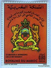 MAROC Yt 998  25ème anniversaire de l'intronisation du Roi Hassan II