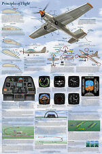 Principles of Flight Laminated Educational History Airplanes Chart Poster 24x36