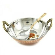 Copper serving bowl & spoon / Hammered copper serving dishes / copper table ware