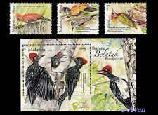 Malaysia 2013 Woodpecker Birds completed set. MNH