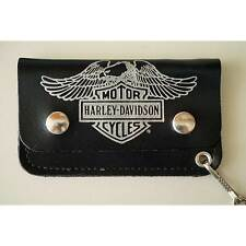 Mini Harley Davidson Motorcycle Leather Wallet with Chain Biker USA Licensed NOS