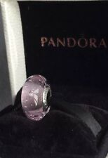 Genuine Pandora Silver S925 ALE Pink Fizzle Murano Glass Charm In Pop Up Box