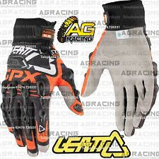 Leatt GPX 5.5 Windblock Black Orange Gloves Adult Large L Motocross Enduro ATV