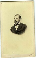 PHOTO CDV dos nu un homme prend la pose moustaches collier de barbe vers 1860