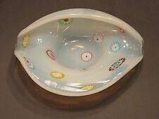 art glass shell dish Fratelli Millefiori Opalescence Murano