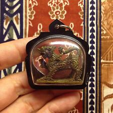 Magic Singha Lion Lp Joy Thai Amulet Talisman Luck Sacred Protect Water-Proof