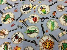 """DAISY KINGDOM # 1365 """"MAGNIFIED INSECTS"""" BY SPRINGS 1 3/8 YARDS"""