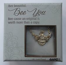 u Bumble Bee You original 14K gold plated BLISSFUL JOURNEY CHARM NECKLACE 18""