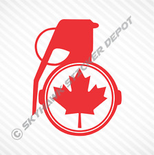 Maple Leaf Grenade Vinyl Decal Bumper Sticker Canadian Flag Car Window Sticker