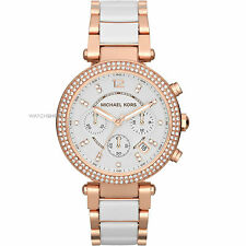 Michael Kors Parker MK-5774, Rose Gold Ceremic Dual Tone Watch for Women