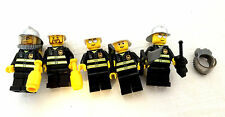 Lot of 5 Lego Firefighters Firemen Minifigs Minifigures & Parts Accessories 7208