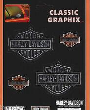 HARLEY DAVIDSON MOTORCYCLES CLASSIC CHROME BAR & SHIELD SET STICKER DECAL
