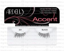 ARDELL 100% HUMAN HAIR FALSE EYELASHES ACCENT PETITE HALF LASHES 301 NATURAL