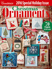 BRAND NEW!!! 2016 Just Cross Stitch CHRISTMAS ORNAMENTS Issue