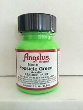 Angelus Neon Popsicle Green leather paint 1 oz. bottle