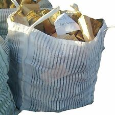 10 x LOG BULK BAG VENTED VENTILATED FIBC LOG STORAGE FIREWOOD KINDLING TREE VEG