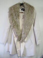 Dennis Basso Faux Leather Jacket with Removable Faux Fur Collar 2X A284847