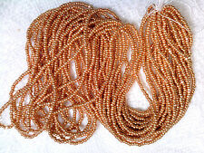 Vtg LONG HANK RICH GOLD METALLIC SEED BEADS CHARLOTTE 11/0 YAY! #072711a
