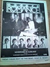MODERN ROMANCE Adventures in Clubland UK Poster size Press ADVERT 16x12""