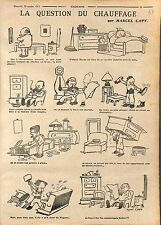 Humour Chauffage Charbon Bougie Paris Meubles Piano Wagner Marcel Capy WWI 1915