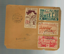 1945 Tunisia airmail cover complete set # B80-B83