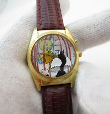 "SYLVESTER & TWEETY,Looney Tunes,""3D DIAL""RARE! ,w/Music CHARACTER WATCH,1377"