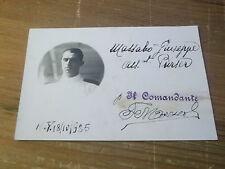"""TESSERA DI RICONOSCIMENTO UFFICIALE TRANSATLANTICO """" GIULIO CESARE """" 1925 5-30"""