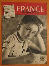 FRANCE magazine 133 du 26/2/1950-Comment vivent les Anglais-Jean-Sébastien Bach